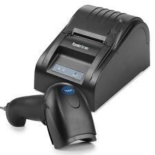 Protable USB 58mm POS Thermal Receipt Printer Auto Barcode Scanner Combo Set