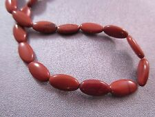 Red Jasper Oval Beads 35pcs