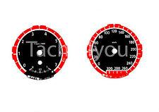 Bmw de tacómetro para 1er e81 e82 e87 e88 300 sets multaránpor km/h m1 rojo nr 120