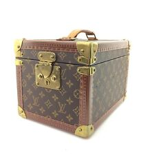 AUTH Louis Vuitton Monogram Canvas Boite Flacons Travel Trunk Case Cosmetic Bag