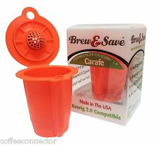 Brew & Save - Keurig 2.0 Carafe Reusable K-Carafe Filter For Keurig 2.0 Brewers