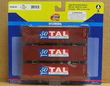 Athearn 29165 HO TAL 40' Containers, 3-pak