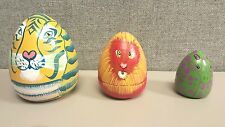 Hand Painted Russian Nesting Doll Lion king Tiger and Giraffe Set of 3