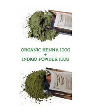 ORGANIC HENNA + INDIGO Powder USDA CERTIFIED BIO Natural Pure Hair Dye