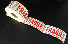 "500 Large FRAGILE Labels 148x50mm (6.5"" x 2"")  Top Quality Self Adhesive Sticky"