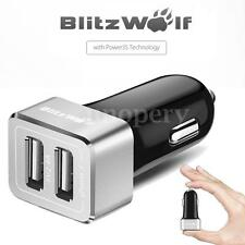 BlitzWolf BW-C4 5V 24W Fast 2 Port QC 2.0 Car Charger Universal For Phone Pad
