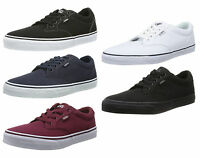Vans Winston Canvas Fashion Skater Shoes Plimsolls Grey Black White Red Trainers