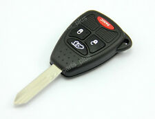 Uncut Blade Blank Key Remote Shell Case Cover For Chrysler Dodge Jeep 4 Buttons