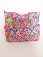 NWT Vera Bradley Pleated Tote Shoulder / Hand Bag In Paisley in Paradise