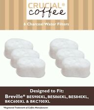 6 Breville Single Cup Coffee Brewer Charcoal Filters, Part # BWF100 White NEW