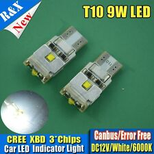 1 x 501 W5W T10 CANBUS 9W CREE SMD LED BULBS 360 Degree XENON WHITE ERROR FREE