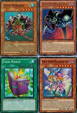 Toon Dark Magician Girl _Mermaid_ Summoned Skull_World GLD4 4-Card Set YUGIOH