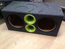 "Massive Audio Dual 10"" SUMMOXL104 TOROX104 Sub Custom Aero Ported Subwoofer Box"