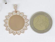 NEU Wunderschöner Anhänger aus 925 Silber mit Steinbesatz - Vergoldet 35,9 mm *S
