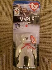 Ty Beanie Baby MINI MAPLE  INTERNATIONAL BEARS 2 ONE OF 4