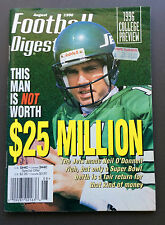 NFL FOOTBALL DIGEST Magazine Neil O'Donnell Cover Aug 1996 Gridiron John Elway