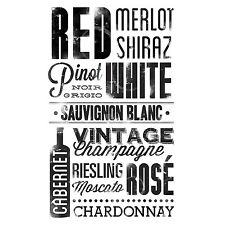 WINE 22 Wall Decals Words Quotes Brands Room Decor Stickers MERLOT RED BOTTLE 49