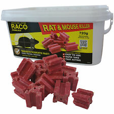720g Rat & Mouse Poison Killer Block Bait - Full Strength Rodent Vermin Control