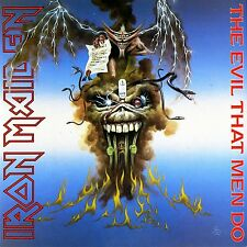 IRON MAIDEN - THE EVIL THAT MEN DO  VINYL SINGLE NEU