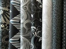 """Black and Gray Fabric 30 Piece 5"""" Squares Charm Pack Quilt Fabric 100% Cotton"""