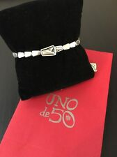 Uno De 50 Swarovski Beads and Leather Bracelet - NWT - Glamatic
