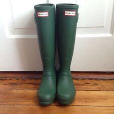 Hunter Original Tall Matte Green Boots 6