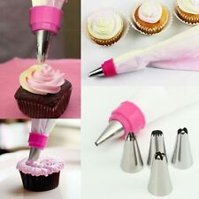 TWO COLOR ICING PIPING BAG PASTRY CAKE CUPCAKE DECORATING TOPPERS NOZZLE BAKING
