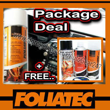 Foliatec Car Interior Dashboard Door Flat Matt Black Spray Paint,Sealer,Primer +