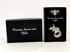 Squirrel Finest English Pewter Lapel Pin Badge Brooch - Hand Made - Gift Box