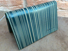PAUL SMITH GREEN LASER ETCHED  STRIPE BIFOLD WALLET/CREDIT/BUSINESS CARD HOLDER