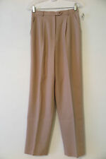 NWT Talbots Mocha Tan Wool Blend Pleated Dress Career Pants Size 6 MSRP $118