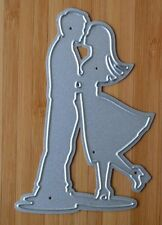 Metal Cutting Die - KISSING COUPLE Boy Girl Man Lady in Love (People)