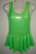 Green Sparkle Spandex Dress. Suit Gymnastics. Twirling, ice skate size 4 yrs