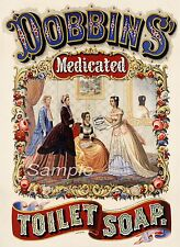VINTAGE DOBBINS TOILET SOAP ADVERTISING A3 POSTER PRINT
