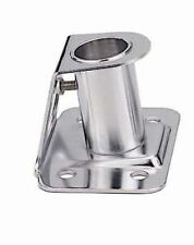 """MARINE STAINLESS STEEL 304 STANCHION SOCKET FOR 1"""" POLE AT 84° ANGLE 2.5""""BASE"""