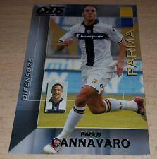 CARD CALCIATORI PANINI 2004/05 PARMA CANNAVARO CALCIO FOOTBALL SOCCER ALBUM