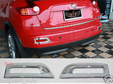 Chrome Rear Reflector Bumper Surround Trims FOR NISSAN JUKE 2010 2012 2013 SUV