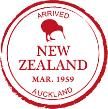 "New Zealand Auckland Passport Travel Car Bumper Sticker Decal 5"" x 5"""