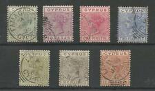 CYPRUS SG16-21 THE 1882-6 QV SET OF 7 VERY FINE USED CAT £120,LOVELY LOT