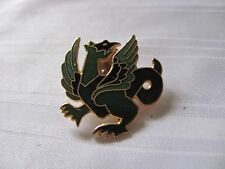Green black enameled griffin tac pin