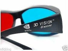 NVIDIA 3D Anaglyph Glasses Red and Blue Lenses Fits Over Prescription Glasses