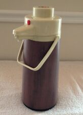 Vintage Interpur Thermos Woodgrain Hot and Cold Drink Dispenser  15.5""
