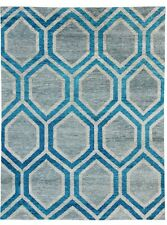 Hexagonal Honeycomb Design Handmade Rugs Gray NEW Modern Rugs CLEARANCE CARPETS