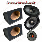 "Fli 6x9"" 2 way 270w Car Speakers with MDF 6x9 6 x 9"" Speaker Box Enclosure Pair"