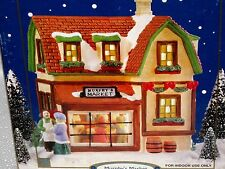 "CHRISTMAS VILLAGE PORCELAIN HOUSE GLASS WINDOW EDITION ""MURPHY'S MARKET"""