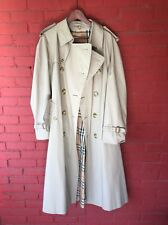 Burberry 3/4 Rain Coat Beige With classic Check Lining
