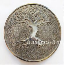 KILT BELT BUCKLE CELTIC TREE OF LIFE CIRCULAR ANTIQUED FINISH HIGHLANDWEAR KILTS