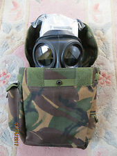 BRITISH ARMY S10 GAS MASK (SIZE 3), WRAPPED FILTER AND GOOD HAVERSACK!