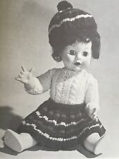 Vintage Knitting Pattern - Dolls Clothes - Scottish Outfit