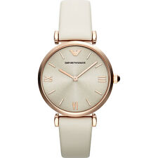 NEW EMPORIO ARMANI AR1769 LADIES ROSE GOLD GIANNI T-BAR WATCH - 2 YEAR WARRANTY
